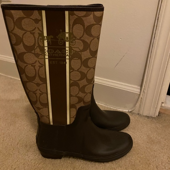 Genuine Leather Coach Knee Boots